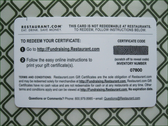 Redeem $400 Restaurant Gift Certificates Savor Breakfast Lunch ...